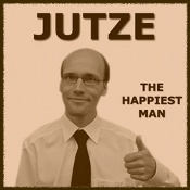 Jutze - The Happiest Man (album cover)