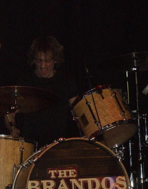The Brandos live in Koblenz 2008: Phil Cimino on drums
