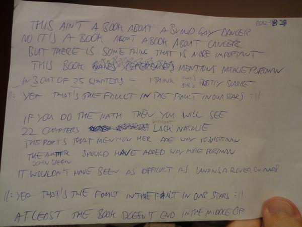Final draft of the lyrics